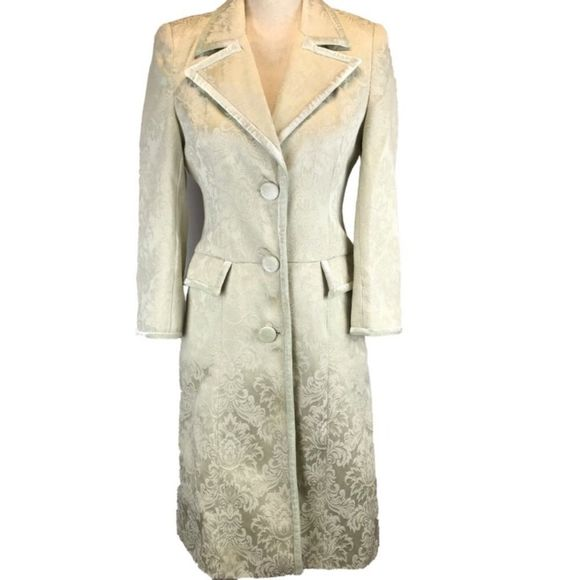 Arden B Jackets & Blazers - ARDEN B Mint Green Embroidered Trench Coat/Jacket